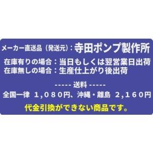 寺田ポンプ製作所 小型水中ポンプ 軽量合成樹脂製 非自動型 SG-150C形  50Hz SG-150C mizu-syori 02