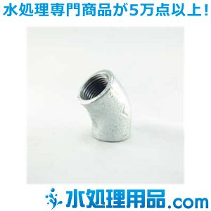 吉年 白継手 45°エルボ 45L型 5インチ(125A) YS-45L5|mizu-syori