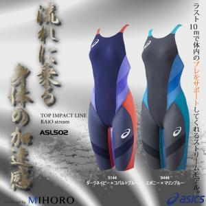 【送料無料】 FINAマークあり レディース 高速水着 選手用 アシックス ASL502|mizugi