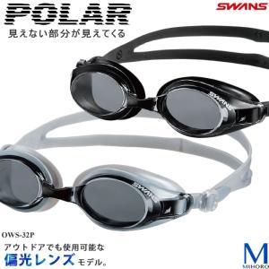 クッションあり フィットネス用スイムゴーグル 水泳用 偏光レンズ SWANS(スワンズ)  OWS-32P|mizugi