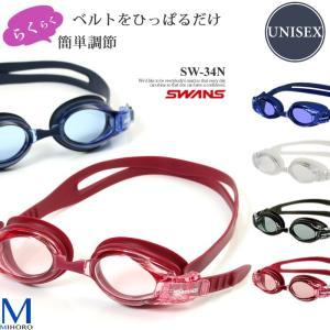 クッションあり フィットネス用スイムゴーグル 水泳用 SWANS(スワンズ)  SW-34N|mizugi