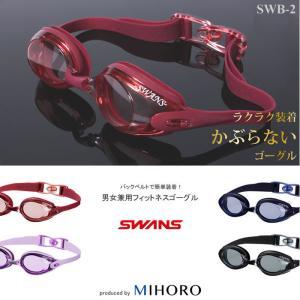 (在庫限り)クッションあり フィットネス用スイムゴーグル 水泳用 SWANS(スワンズ)  SWB-2N|mizugi