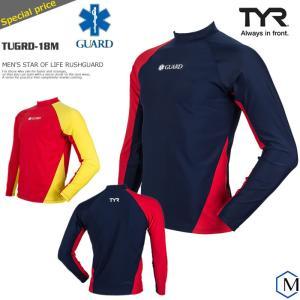メンズ 競泳練習用水着 男性 ラッシュガード・トップス・ぴったりシルエット TYR ティア TUGRD-18M|mizugi