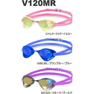 クッションなし 競泳用スイムゴーグル ミラーレンズ Blade ブレード <VIEW(ビュー)> V120MR (限定モデル)|mizugi