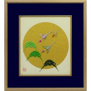 水引 額装色紙 松と鶴|mizuhikiart-shop2