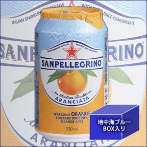 サンペレグリノ スパークリング フルーツベバレッジ アランチャータ(オレンジ) 330ml × 12本 缶の商品画像|ナビ