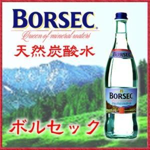 炭酸水 天然炭酸水 ボルセックBorsec瓶 750mlx12本 送料無料 活性炭酸と重厚なミネラル|mizuhiroba-jp
