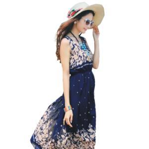 マキシワンピース リゾート ワンピース レディース サマードレス ファッション ロング丈 ルームウェア 体型カバー セクシー ママ スカート|mizuki-store