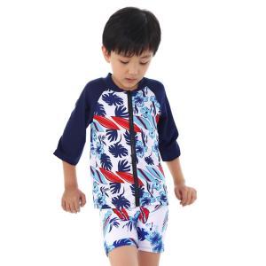 水着 子ども用 日焼け防止 紫外線対策   かわいい スイムウェア 長袖トップス プール 海 水遊び...