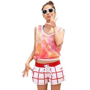 サーフパンツ レディース 大きいサイズ ショートパンツ  ママ 大人 女性用 オシャレ ビーチ用 水着体型カバー用短パン ショーパン ボードショーツ|mizuki-store
