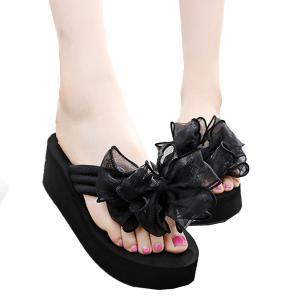 ビーチサンダル レディース おしゃれ 履きやすい 痛くない 厚底ビーチサンダル ウエッジソール 歩きやすい ビーサン 美脚 かわいい|mizuki-store
