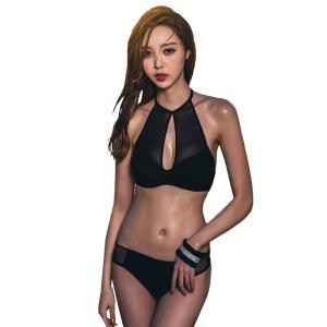 水着レディースビキニ2点セットビキニハイネック水着ハイセンス大人韓国SHEBEACH正規品セクシーキュート水着通販人気黒