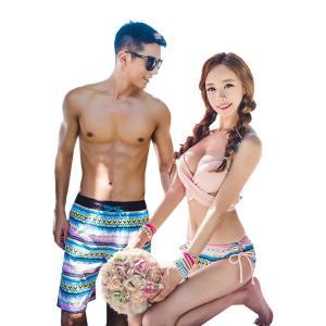 カップル 男女4点セット レディース メンズ  大人 韓国ファッションブランド SHEBEACH正規品 リゾート 体型カバー mizuki-store