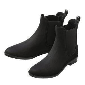 レインブーツ ショートブーツ 防水 レディース 靴 大人 女性用 オールシーズン スウェード風 おしゃれ かわいい ヒール 履き口 ゆったり|mizuki-store