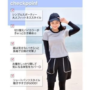 フィットネス 体型カバー 水着 レディース マ...の詳細画像2