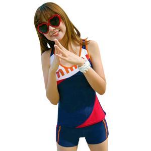 フィットネス水着 レディース ショートパンツ タンキニ 体型カバー セパレート スポーツ スイムウェア可愛い 大きいサイズ 女性 セパレーツ運動用