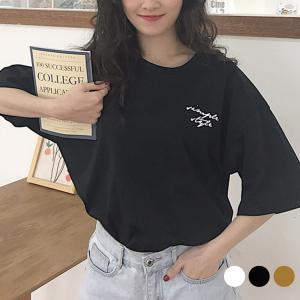 Tシャツ レディース 半袖 春 夏 秋 トップス カットソー バックプリント オーバーサイズ ビッグ...