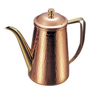 コーヒーポット 槌目入 10人用 1,500cc 銅製|mizumawari-chuubou