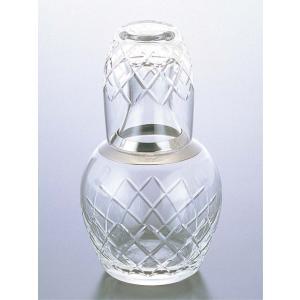 冠水瓶 No.3183 600cc クリア 矢来カット ガラス製|mizumawari-chuubou