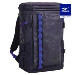 ミズノ公式 ターポリンバックパック 30L ブラック×ブルー