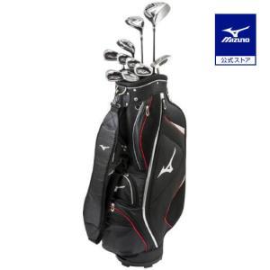 ミズノ公式 メンズゴルフクラブ10本セット/RV-7 キャディバッグ付/スチールシャフト ブラック