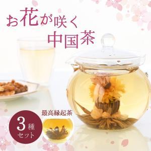 工芸茶 中国茶 花が咲くお茶 鳳凰舞踊 選べる 3個 セット ギフト 敬老の日 プレゼント|mizunomori-beauty