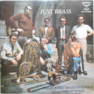 中古LPレコード【JUST BRASS、アーノルド/金管五重奏曲 他、フィリップ・ジョーンズ・ブラス...