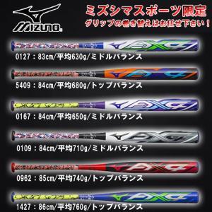 ★MIZUNO (ミズノ)ソフトボール3号用カーボン製バット ミズノプロ AX4(1CJFS307LS)ゴムボール対応 リザードスキンズ 一般用