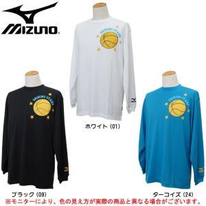MIZUNO(ミズノ)Tシャツ(長袖)(54SP360) バスケットボール ミッキーマウス ディズニー ジュニア メンズ|mizushimasports