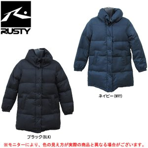 RUSTY(ラスティ)中綿 ジャケット(955306)カジュアル スポーツ アウトドア トレーニング ダウンコート フード付き レディース|mizushimasports