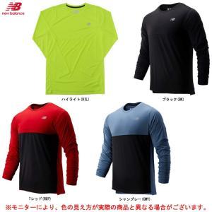 new balance(ニューバランス)ベーシックロングスリーブTシャツ(AMT93182)スポーツ トレーニング 長袖 ランニング メンズ
