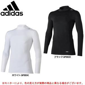 adidas(アディダス)テックフィット BASE ロングスリーブハイネック(BJK83)サッカー インナー 長袖 メンズ