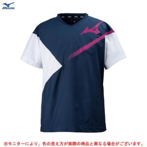 MIZUNO(ミズノ)ブレーカーシャツ(V2ME8001)バレーボール トレーニング ピステ 半袖 ...