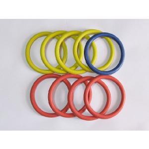 ●公式で使う輪(赤4、黄4、青1)の9個がセットになった商品になります。外寸約16.5cmの輪です。...