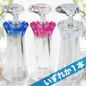 即納 Shine シャンプー ボトル ディスペンサー 1本 キラキラ 日本製 クリアピンク ロイヤルブルー クリア いずれか シャイン 最後まで使える|mj-market