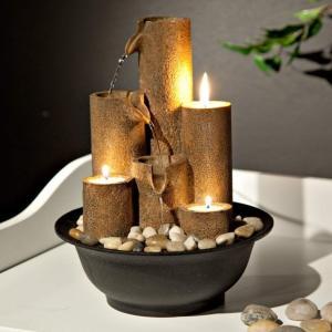 卓上 噴水 滝のオブジェ テーブルトップファウンテン インテリア噴水 Alpine WCT202 Tiered Column Tabletop Fountain with 3 Candles, 11 Inch TallAlpine WCT2|mj-market