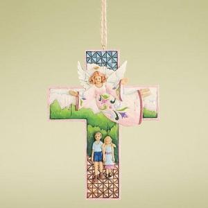 Jim Shore Guardian Angel Cross Hanging Ornament■商品...