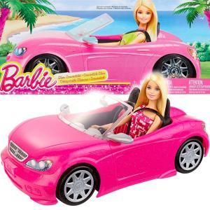 20c9d4ae9d バービー Barbie コンバーチブル & ドール パック/車 オープンカー ピンク ラメ キラキラ シートベルト ドレス シューズ サングラス