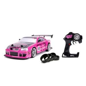 ラジコン ハローキティ Jada Toys Hello Kitty Nissan Skyline GT-R (Bnr34) Drift Power Slide Elite R/C, USB Charging, with 4 Extra Tires|mj-market