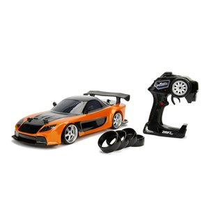 ラジコン RCマツダ RX-7 Jada Toys Fast & Furious Han'S Mazda RX-7 Drift RC Car, 1: 10 Scale 2.4Ghz Remote Control Orange & Black, Ready to Run|mj-market