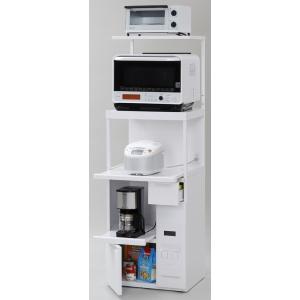 米びつ付きレンジ台 幅60 「ファインキッチン」SKU-306W (キッチン収納、米びつ付・米収納量=12kg)|mkseiko