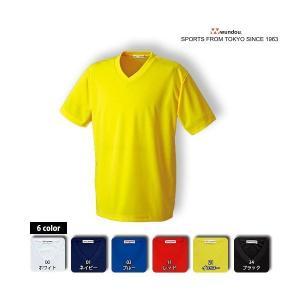 ドライライトTシャツP-330と同じ生地を使用したVネックの半袖Tシャツです。薄手で軽くツルっとした...