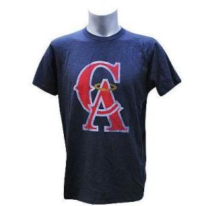 【決算セール】MLB エンゼルス Tシャツ Gym Blue 47ブランド Scrum Basic Tシャツ|mlbshop