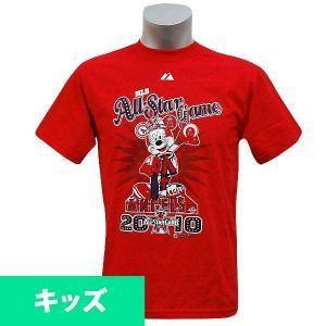 即日発送可 MLB キッズTシャツ レッド マジェスティック All-Star 2010 Youth Mickey Angels Statue Tシャツ mlbshop