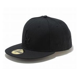 MLB ドジャース キャップ/帽子 ブラック/ブラック ニューエラ 5950 Custom Color キャップ|mlbshop