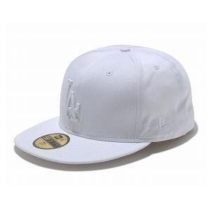 お取り寄せ MLB ドジャース キャップ/帽子 ホワイト/ホワイト ニューエラ 5950 Custom Color キャップ|mlbshop