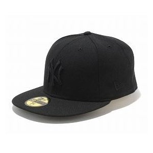 MLB ヤンキース キャップ/帽子 ブラック/ブラック ニューエラ 5950 Custom Color キャップ|mlbshop