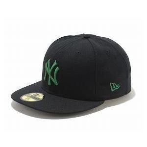 お取り寄せ MLB ヤンキース キャップ/帽子 ブラック/シャムロック ニューエラ 5950 Custom Color キャップ|mlbshop