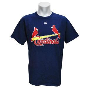 MLB カージナルス Tシャツ ネイビー マジェスティック New Wordmark Tシャツ|mlbshop