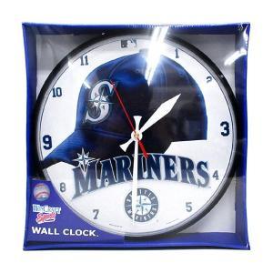 MLB マリナーズ 掛け時計 ウィンクラフト/WinCraft Clock Round|mlbshop